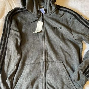 Men's adidas NWT Large hooded zip up sweatshirt